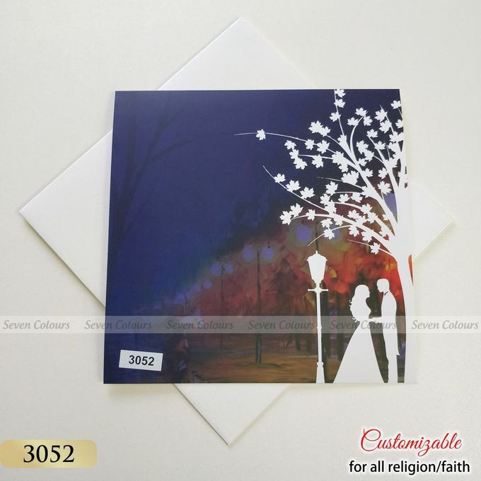 Designer wedding invitations collection by SEVEN COLOURS CARD - 030