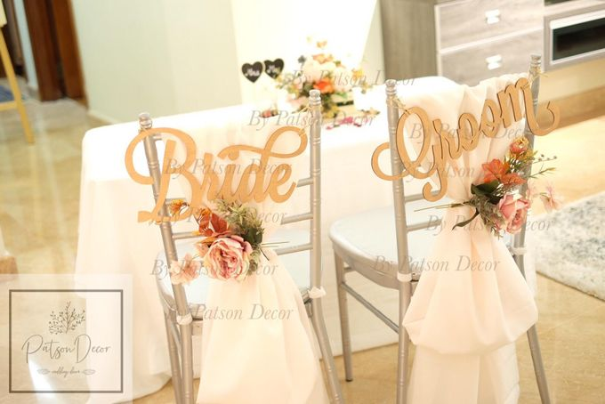 Solemnisation Table Setup Basic Package Elegant Rustic Orange by Patson Decor - 002