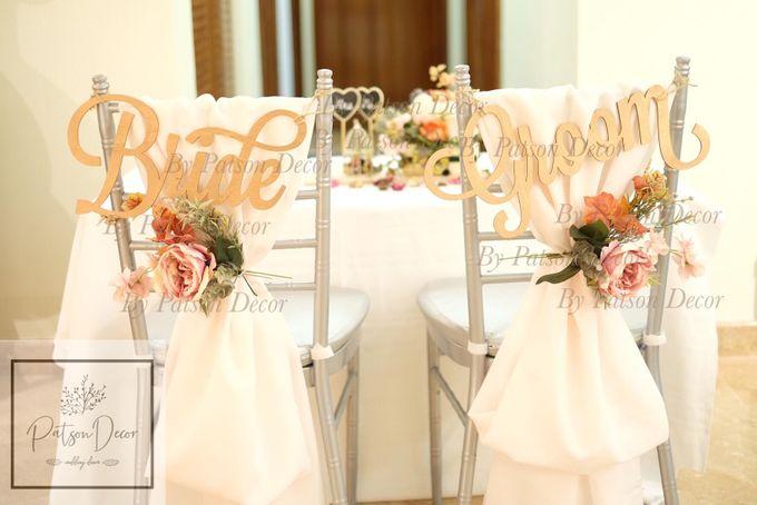 Solemnisation Table Setup Basic Package Elegant Rustic Orange by Patson Decor - 001