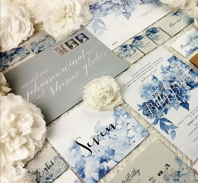 Hydrangea Blossoms Invitation by PurityCard - 003