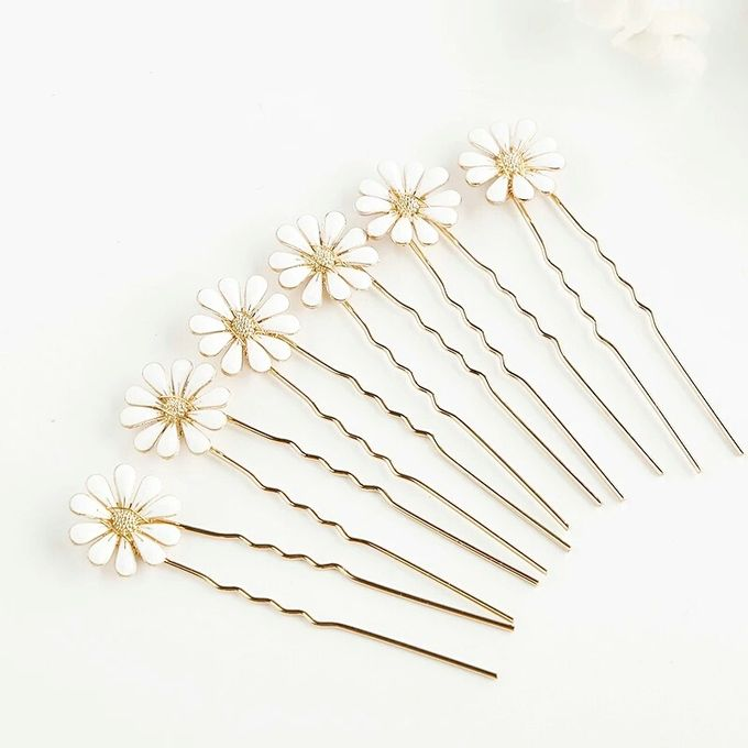Daisy Wedding Hair Pin 6pcs/set by Fairytale Undercover - 003