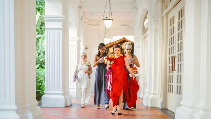 Wedding of Ian & Kelly @ Halia at Raffles Hotel by The Halia - 005