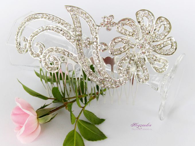 Bridal Hair Comb by Pamela Falli - 014