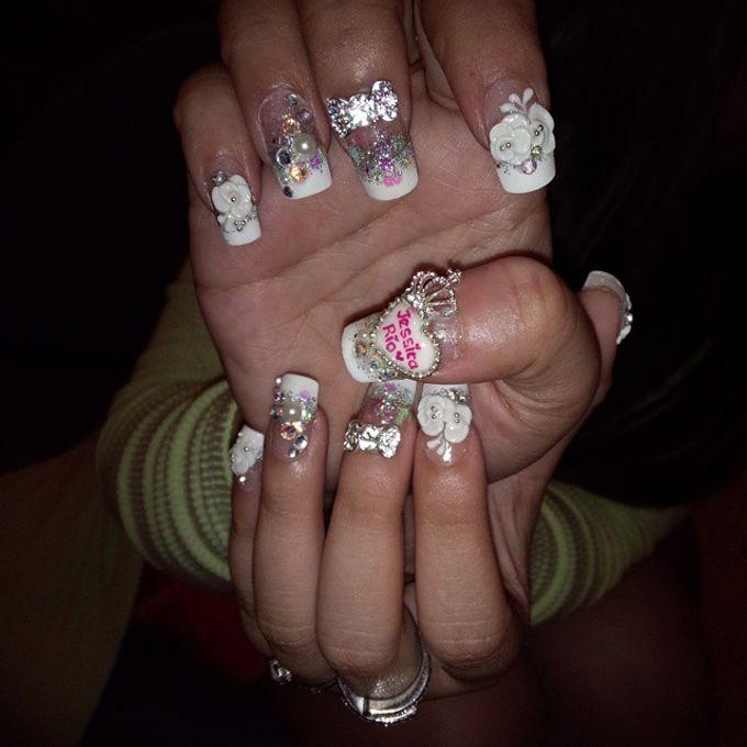 Wedding Nails by Funny's Nail art - 016