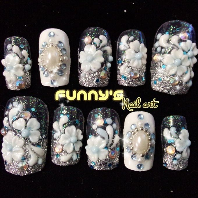Wedding Nails by Funny's Nail art - 017