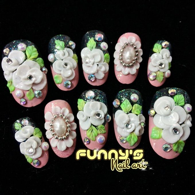 Wedding Nails by Funny's Nail art - 007