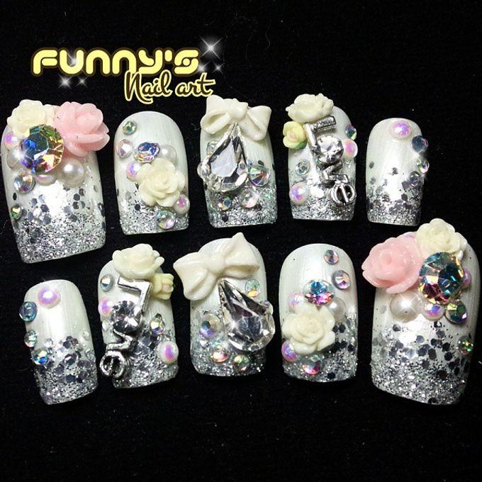 Wedding Nails by Funny's Nail art - 009