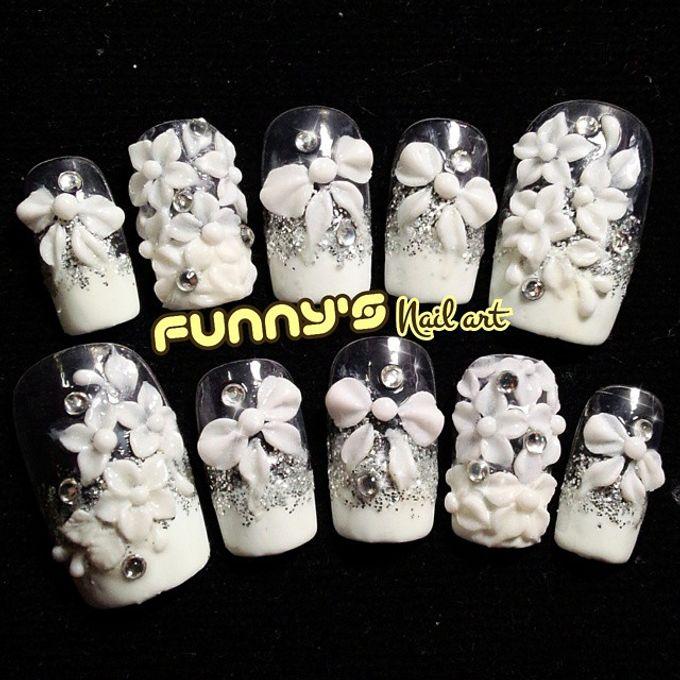 Wedding Nails by Funny's Nail art - 012