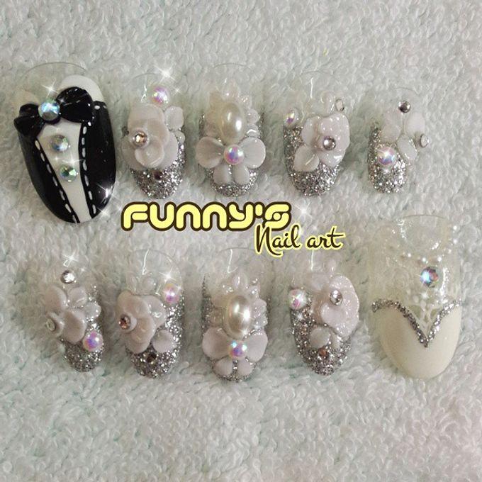 Wedding Nails by Funny's Nail art - 014
