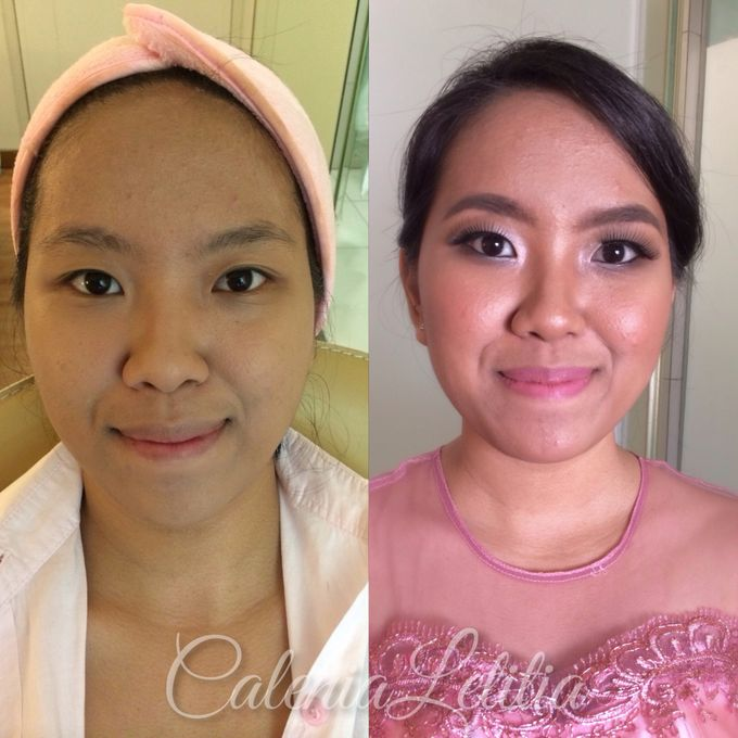 Bridesmaid for Gisella & Adhi Wedding by Calenia Letitia Makeup Artist - 006