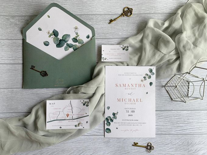 Eucalyptus Greenery by Trouvaille Invitation - 001
