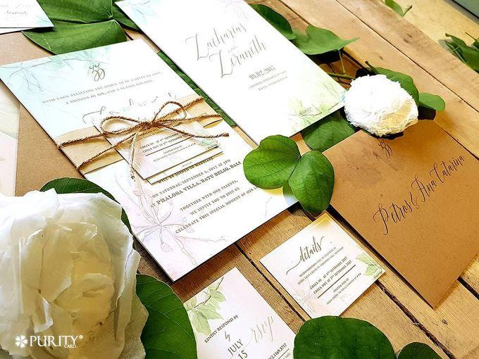 'Green Fairy Garden' Invitation by PurityCard - 001