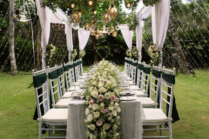 Intimate Wedding Decoration at Kayu Manis Resto by Bali Wedding ...
