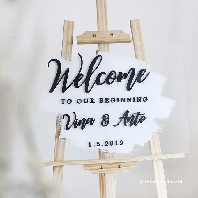 Wedding Sign by The White Dove - 006