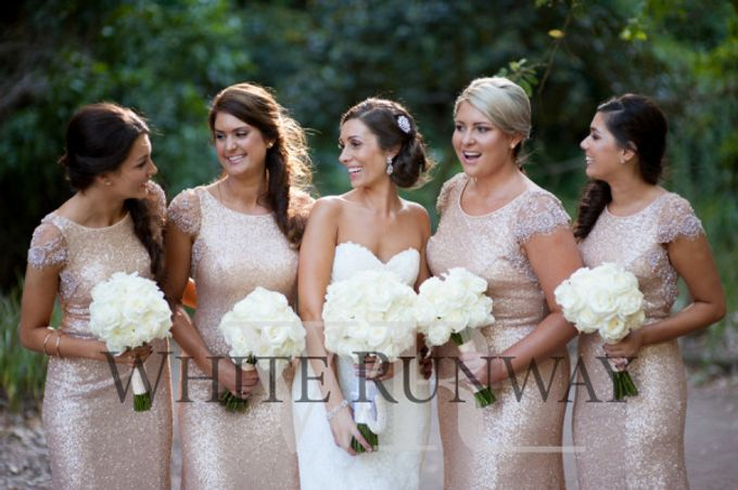 Sequin Bridesmaid Dresses by White Runway - 004