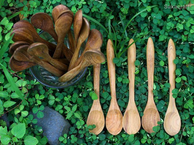 Teakwood Medium Spoon by sakacraft - 005