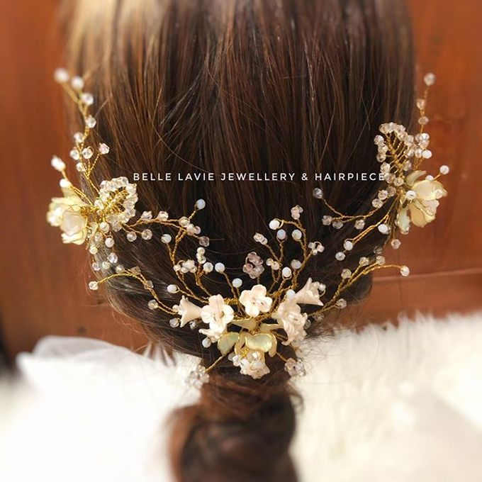 White flower Haircomb & Hairpin sets by Belle La_vie - 002