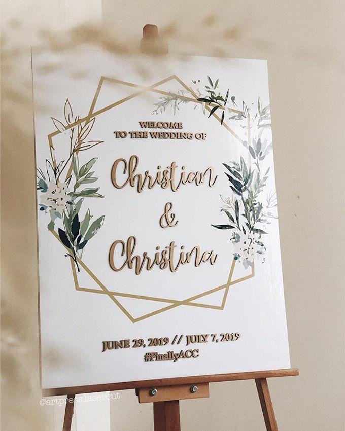 Welcome Signage by Artpress Lasercut   Bridestory com