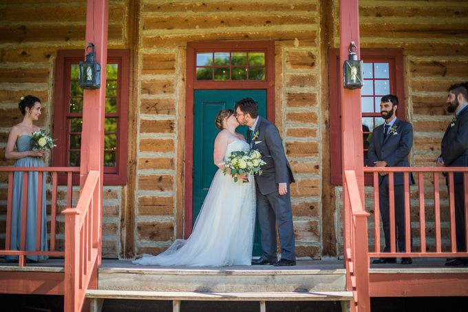 Rustic White and Green Wedding by Stone House Creative - 009