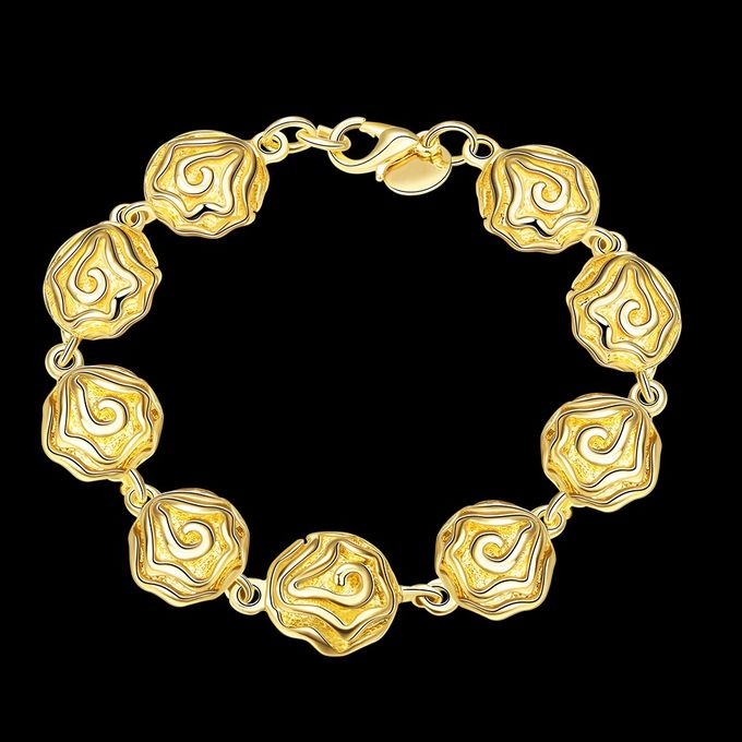 TIARIA Rose Shaped Gold Bracelet Perhiasan Gelang Emas by TIARIA - 002