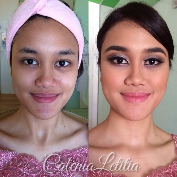 Bridesmaid for Gisella & Adhi Wedding by Calenia Letitia Makeup Artist - 012