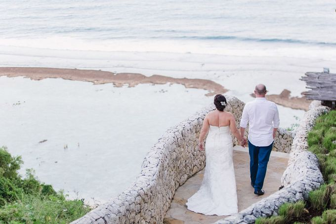 J&M Rustic Glam Cliff Top Wedding by THE UNGASAN CLIFFTOP RESORT BALI  - 017