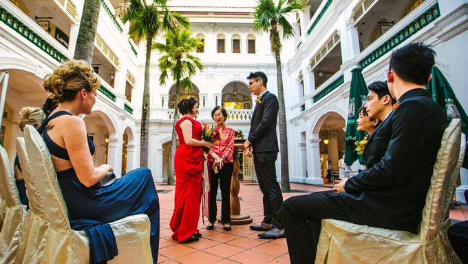 Wedding of Ian & Kelly @ Halia at Raffles Hotel by The Halia - 006