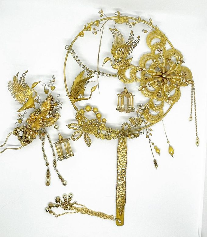 CustomMade Sangjit Fan & Hairpin by Brides Choice - 004