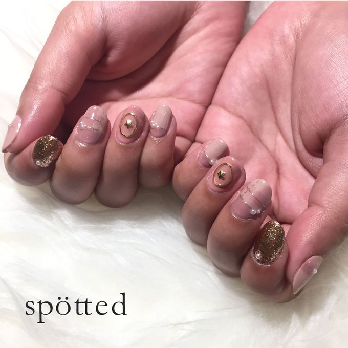 Gel nail art polish by Spotted Nails   Bridestory com