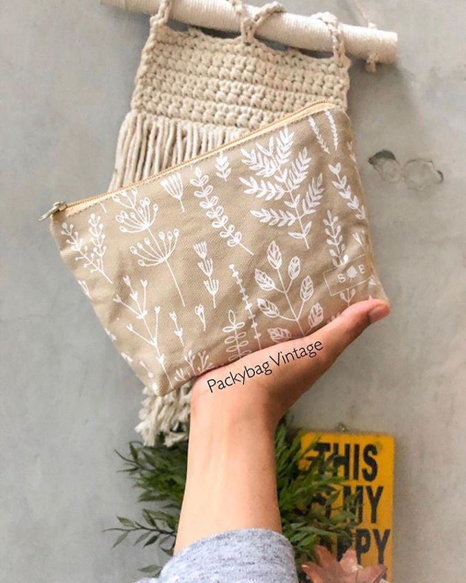 BINTANG WEDDING // Pouch zipper canvas  by Packy Bag Vintage - 001
