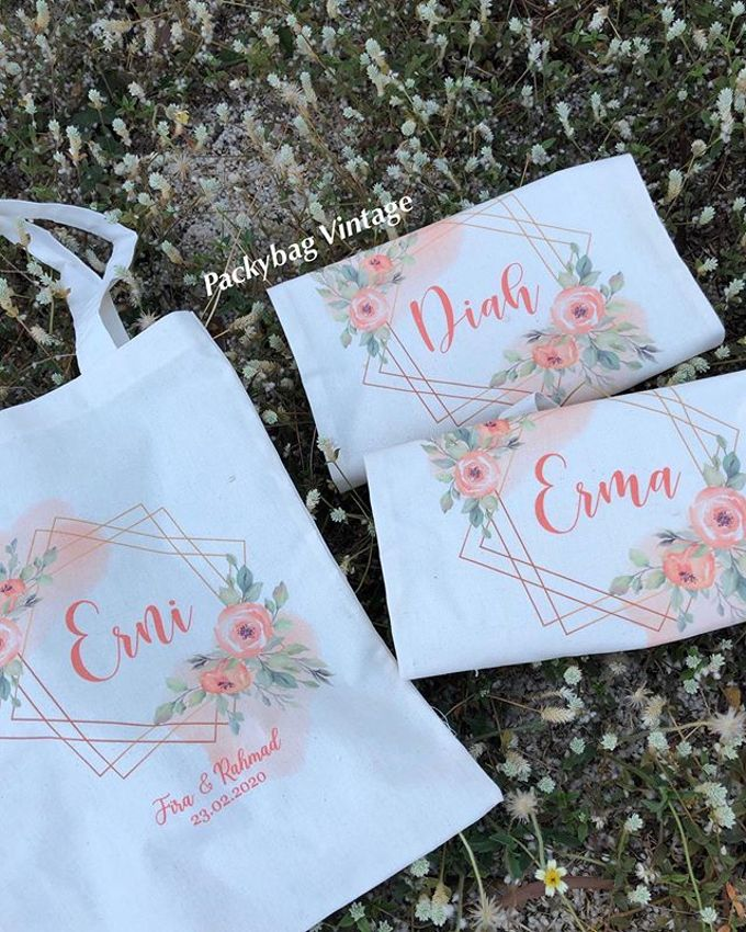TOTEBAG CUSTOM FOR BRIDESMAID  by Packy Bag Vintage - 004