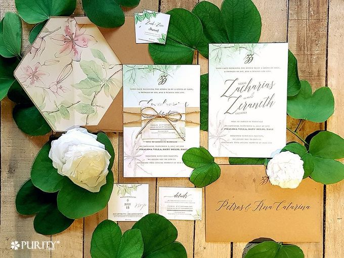 'Green Fairy Garden' Invitation by PurityCard - 003