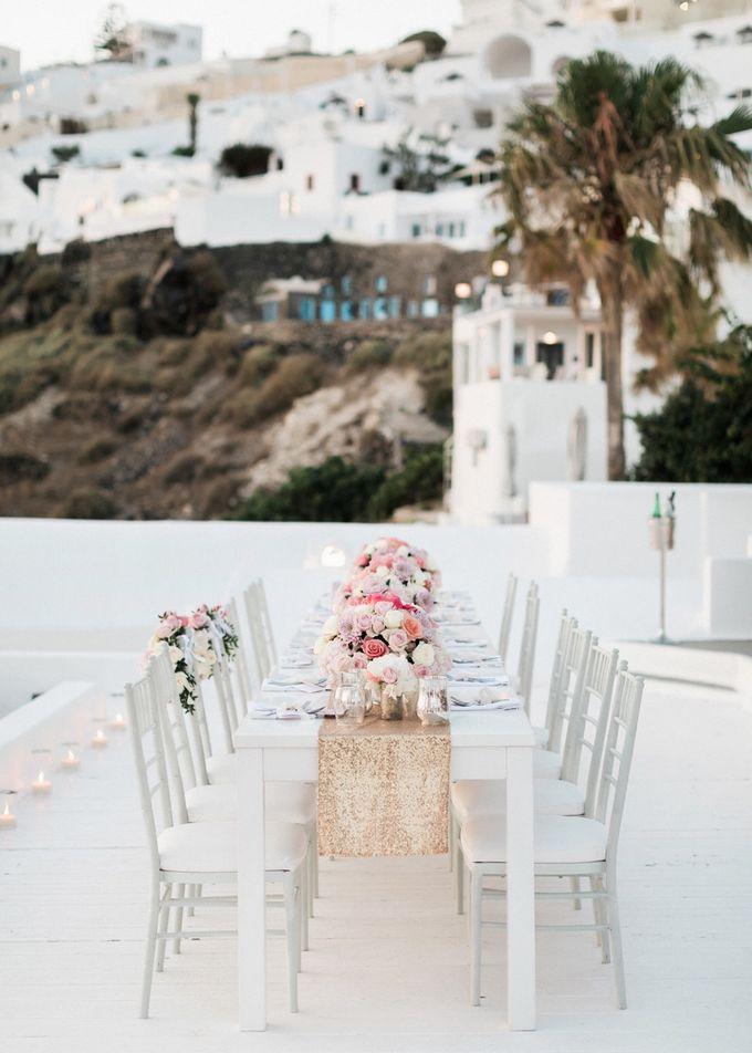Dusty Pink Dream Wedding in Santorini by Stella & Moscha Weddings - 041