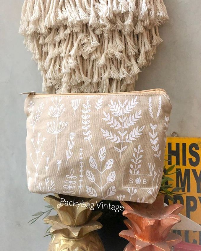 BINTANG WEDDING // Pouch zipper canvas  by Packy Bag Vintage - 004