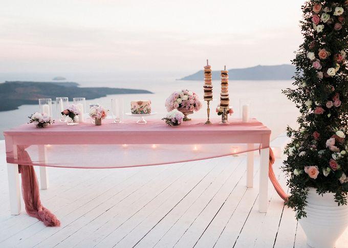 Dusty Pink Dream Wedding in Santorini by Stella & Moscha Weddings - 043