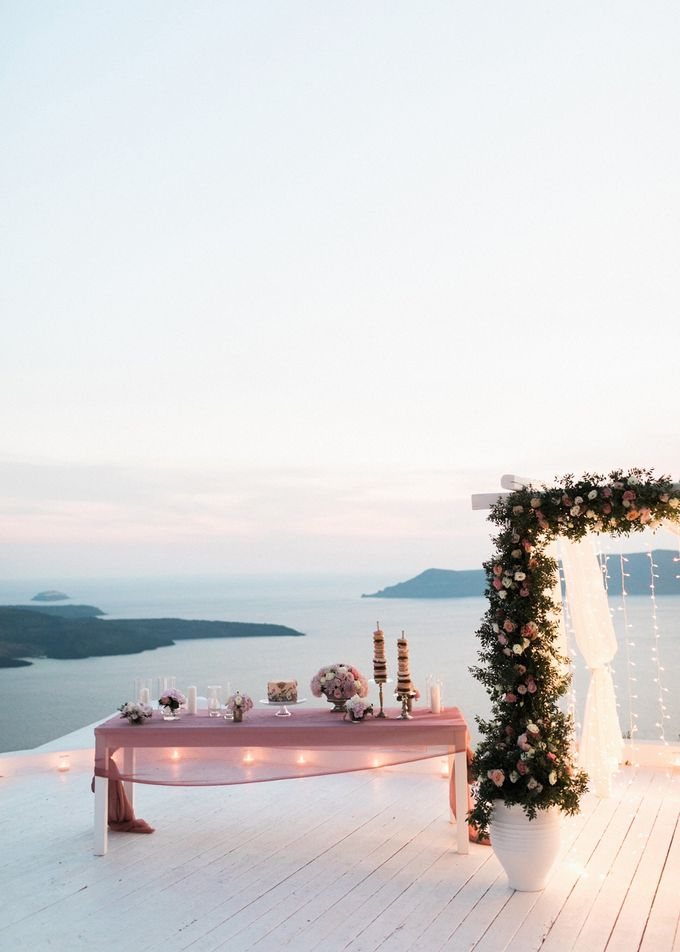Dusty Pink Dream Wedding in Santorini by Stella & Moscha Weddings - 047