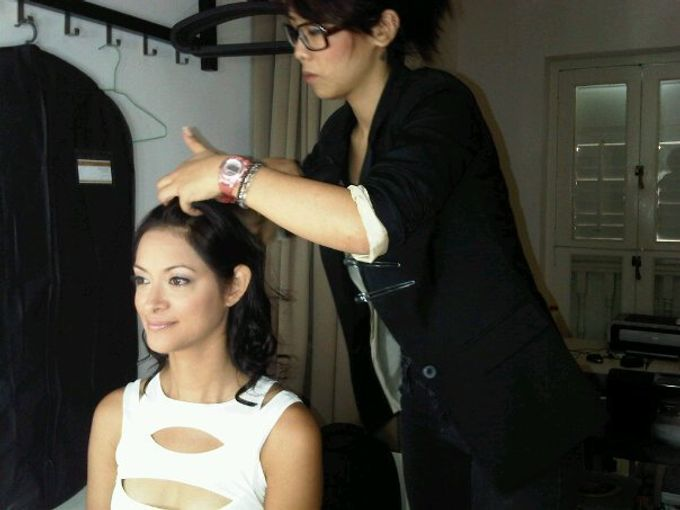 Backstage/Fashion Show by Amber Liu Make up and Hair  - 003