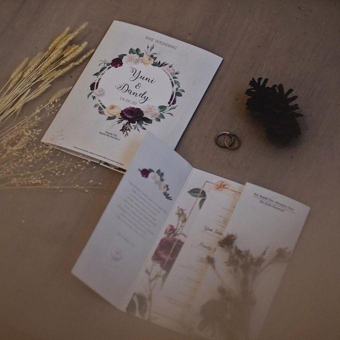 Wedding Invitation Flower Yuni & Dandy by Sae Creative - 003