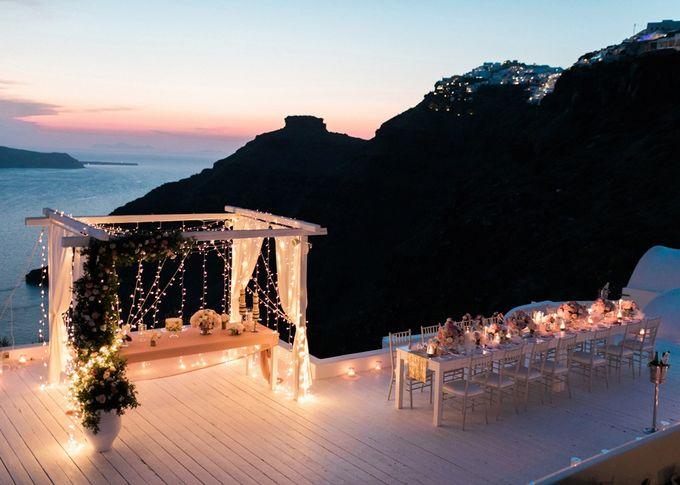 Dusty Pink Dream Wedding in Santorini by Stella & Moscha Weddings - 049