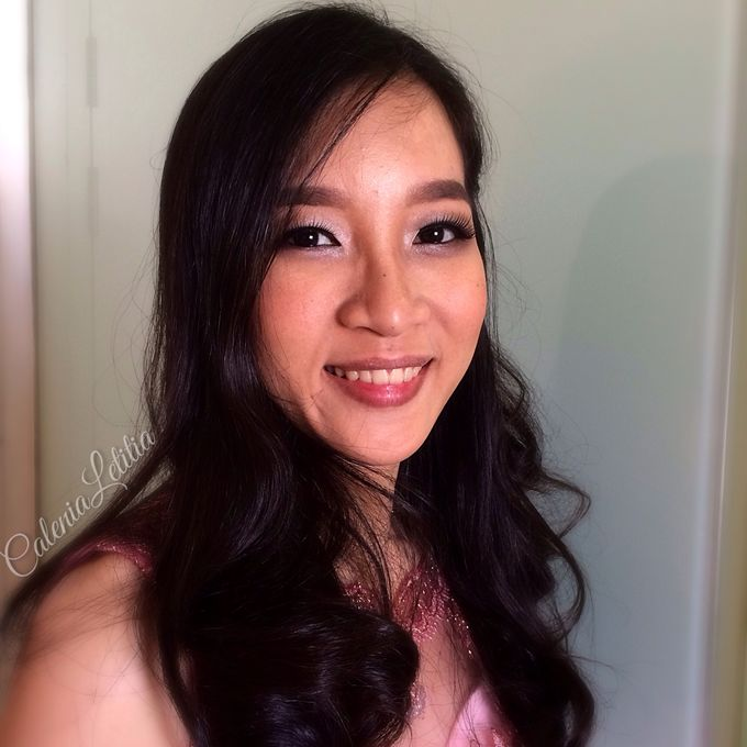Bridesmaid for Gisella & Adhi Wedding by Calenia Letitia Makeup Artist - 007