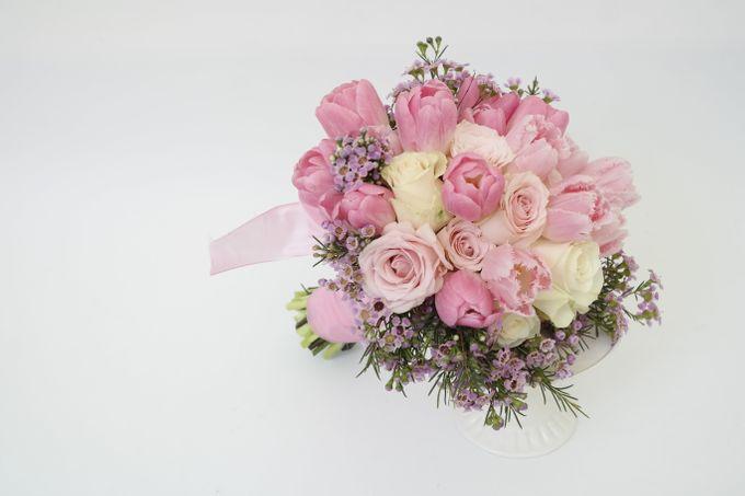 PINK theme -Wedding Bouquet by Hana Flower Boutique by Hana Flower Boutique - 004