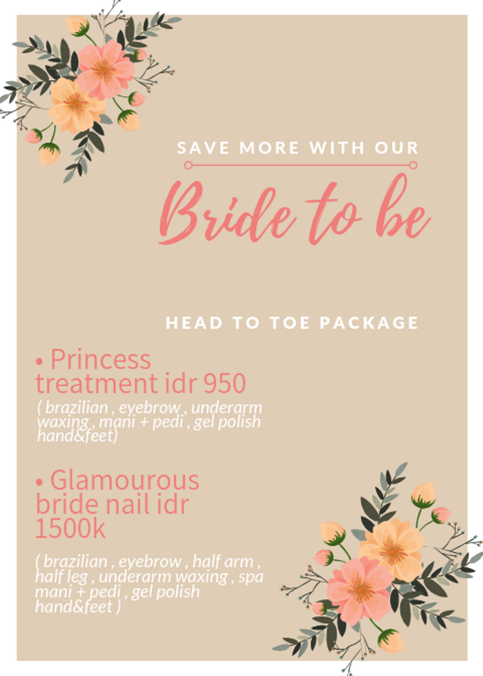 Bride to be head to toe package by Elegant Nail Indonesia - 001