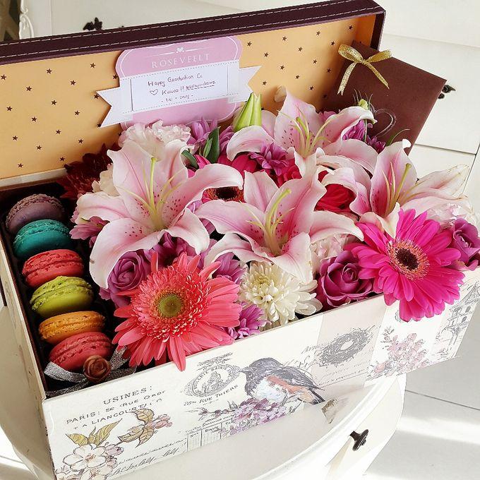 Flower in a Box Arrangement by Roseveelt Florist - 004