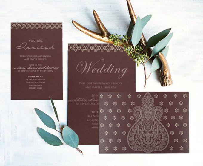 Wedding invitation design for Carolyn & Andrew wedding by 123WeddingCards - 001