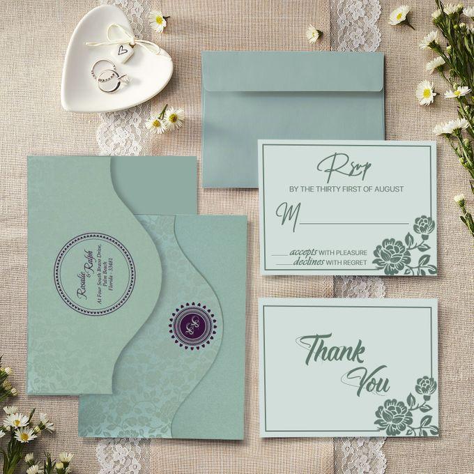 Wedding invitation design for Gavin Hughes  & Chloe McDonald wedding by 123WeddingCards - 001