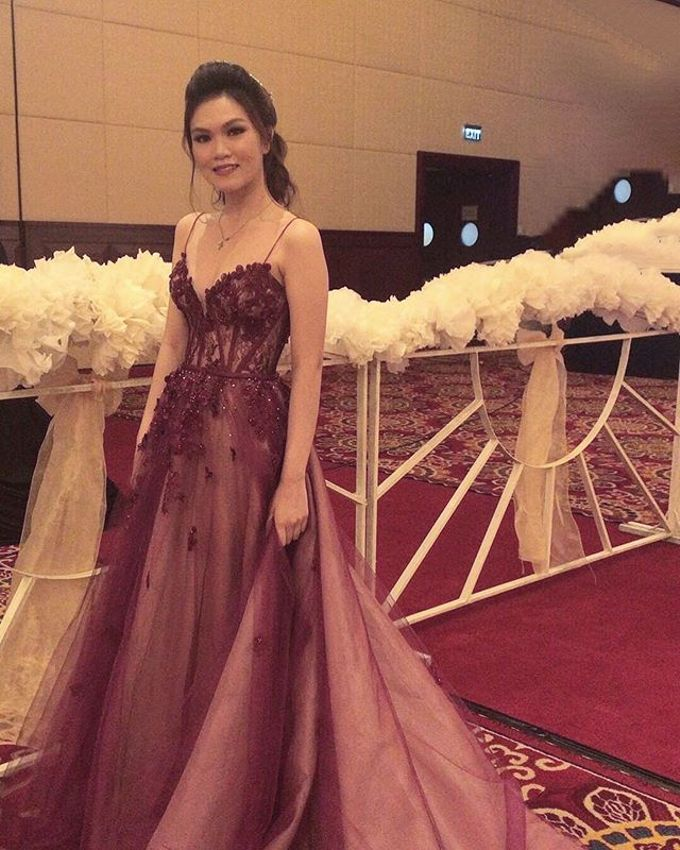 Burgundy Sister of the Bride by Sisca Zh - 001