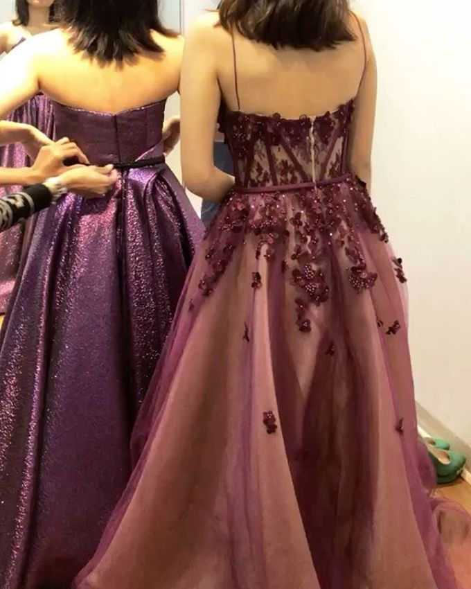 Burgundy Sister of the Bride by Sisca Zh - 002