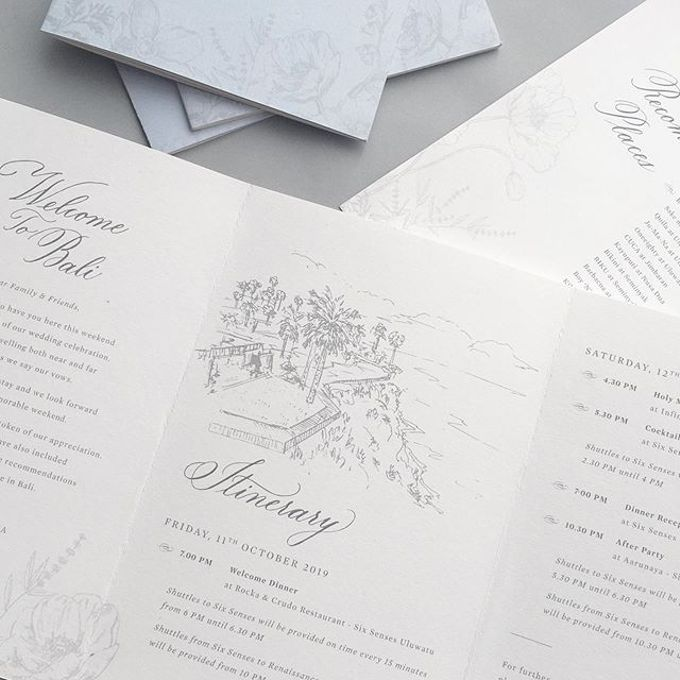 Chris & Eliza by Pensée invitation & stationery - 005