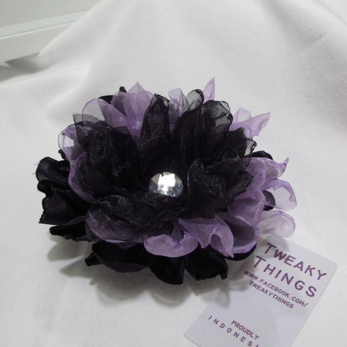 Flower brooch and hairclip by TweakyThings - 012