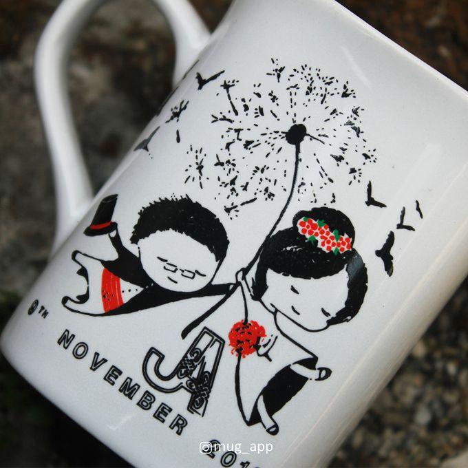 MUG NESCAFE MINI WEDDING JEFFRY & ANGEL by Mug-App Wedding Souvenir - 003